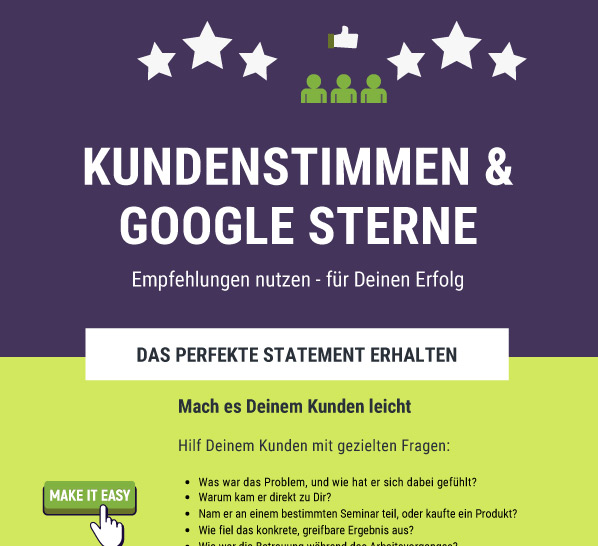 Infografik Referenzen & Googlesterne Download