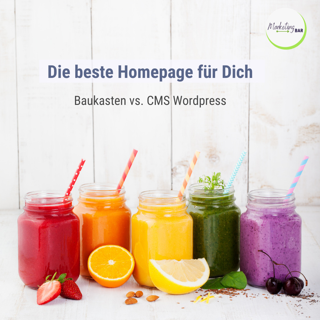 Baukasten vs. CMS WordPress